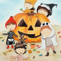 Lunch Servietten Hildegard´s Halloween