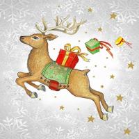 Lunch Servietten Flying Deer silver