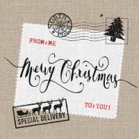 Servietten 33x33 cm - Weihnachtspost