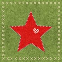 Servietten 33x33 cm - Felt Star