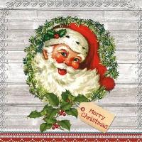 Servietten 33x33 cm - Vintage Claus