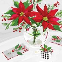 Servietten 33x33 cm - Table de Noël