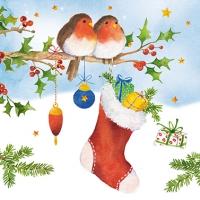 Servietten 33x33 cm - Stocking & Birds