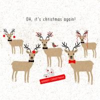 Servietten 33x33 cm - Oh, Christmas again!