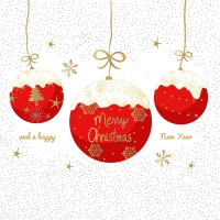 Servietten 33x33 cm - Ein sehr frohes Weihnachtsfest
