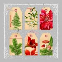 Servietten 33x33 cm - Weihnachts-Tags