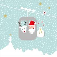 Servietten 33x33 cm - Grüße vom Weihnachtsmann