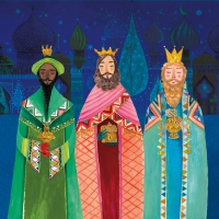 Servietten 33x33 cm - Holy Three Kings