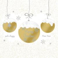 Servietten 33x33 cm - A Very Merry Christmas gold
