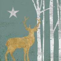 Servietten 33x33 cm - Mystic Deer sage