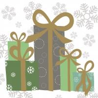 Servietten 33x33 cm - Elegant Gifts green