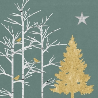 Servietten 33x33 cm - Mystic Tree sage