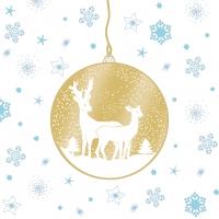 Servietten 33x33 cm - Deers Ornaments