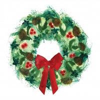 Servietten 33x33 cm - Winter Wreath