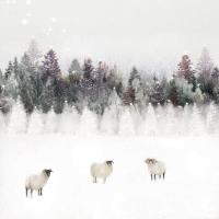 Servietten 33x33 cm - Snowy landscape