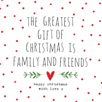 Servietten 33x33 cm - Gift of Christmas