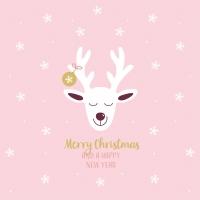 Servietten 33x33 cm - Deer rosé