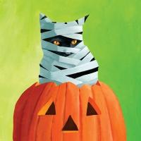 Servietten 33x33 cm - Mummy Cat