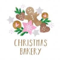 Servietten 33x33 cm - Christmas Bakery