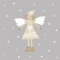 Servietten 33x33 cm - Lucy silver