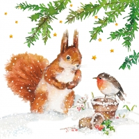 Servietten 33x33 cm - Squirrel & Robin