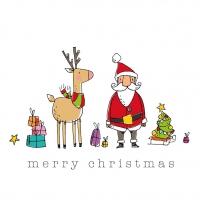 Servietten 33x33 cm - Christmas Friends