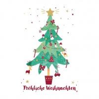 Servietten 33x33 cm - Fröhliche Weihnachten