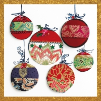 Servietten 33x33 cm - Christmas Ornaments