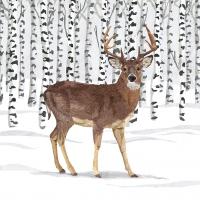 Servietten 33x33 cm - Wilderness Stag