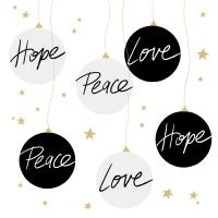 Servietten 33x33 cm - Hope & Peace Napkin 33x33