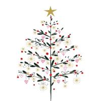 Servietten 33x33 cm - Simply Christmas Napkin 33x33