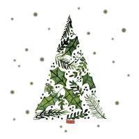 Servietten 33x33 cm - Tree of Leaves Napkin 33x33