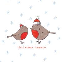 Servietten 33x33 cm - Christmas Tweets