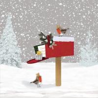 Servietten 33x33 cm - Winter Mail