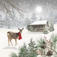 Servietten 33x33 cm - Wintry Deer
