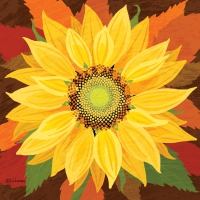 Servietten 33x33 cm - October Sunflower Napkin 33x33