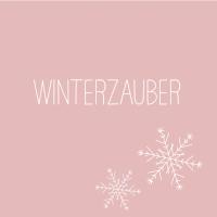 Servietten 33x33 cm - Winterzauber rosé Napkin 33x33