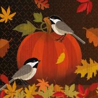 Servietten 33x33 cm - October Pumpkin Napkin 33x33