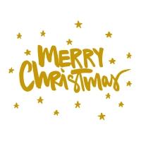 Servietten 33x33 cm - Merry Christmas gold Napkin 33x33