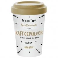Bamboo mug To-Go - Kaffeepulver