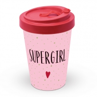 Bambusbecher To-Go - Supergirl