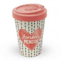 Bamboo mug To-Go - Herzensmensch