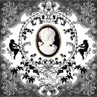 Servietten 33x33 cm - Cameo Schwarz-Weiß
