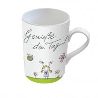 Porzellan-Tasse - Genieße the Tag