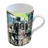 Porzellan-Henkelbecher Mug Sex Drugs and Rock & Roll