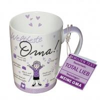 Porzellan-Tasse - Weltbeste Oma