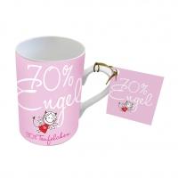 Porzellan-Tasse - Engel 70%