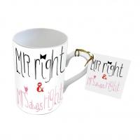 Porzellan-Tasse - Herr & Frau Richtig