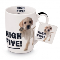 Porzellan-Tasse - High Five