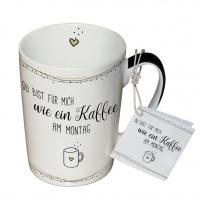 Porzellan-Tasse - Kaffee am Montag